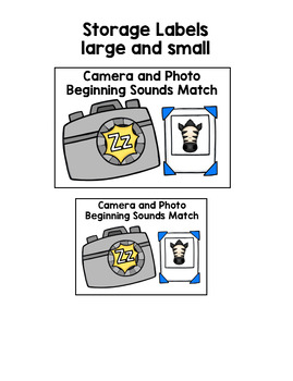 Camera and Photo Beginning Sounds Match