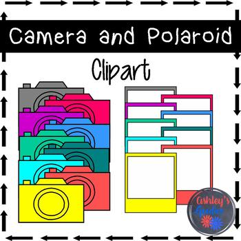 Camera and Polaroid Clipart