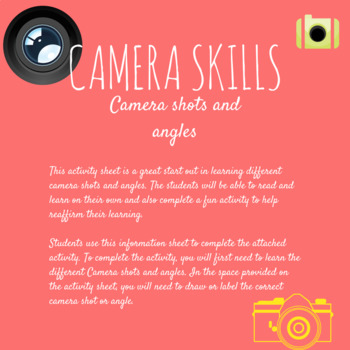 Camera shots and angles activity