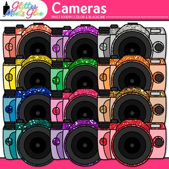 Camera Clip Art {Rainbow Glitter Devices for Digital Photo