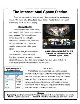 Cameras In Space - Text Structure and Text Features Practice