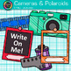 Cameras and Polaroids Clip Art {School Yearbook, End of Ye