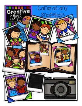 Cameras and Snapshots {Creative Clips Digital Clipart}