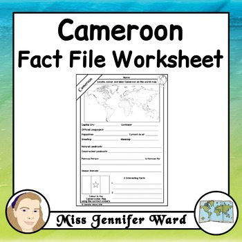 Cameroon Fact File Worksheet