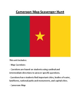 Cameroon Map Scavenger Hunt