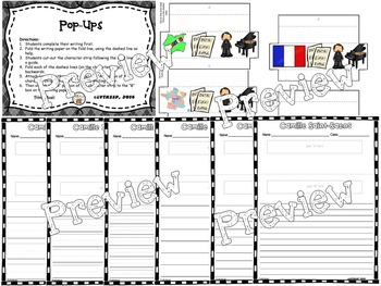 Camille Saint-Saens Interactive Worksheets (Composer of the Month)