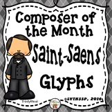 Camille Saint-Saens Listening Glyphs (Composer of the Month)