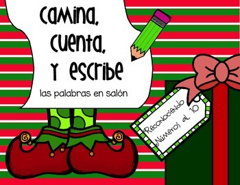 Camina, Cuenta, Y Escribe *Christmas Write the Room, in Spanish!*