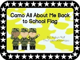 Camo All About Me Back to School Flag