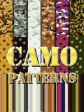 Camo Alphabet 2 •  6 Binder Covers • 6 Bin Labels • 18 Pat