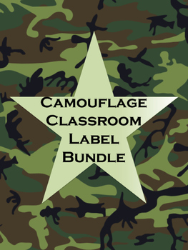 image regarding Camo Printable titled NO PREP Camo Clroom Labels Printable Mega Offer
