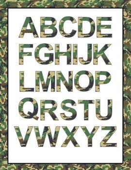 Font Clip Art: Camouflage