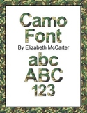 Font Clip Art: Camouflage
