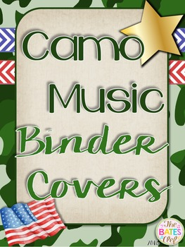 Camo Music Decor - Binder Covers by Stacie Bates | TpT