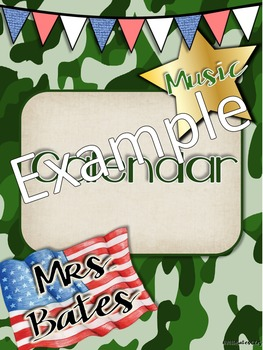 Camo Music Decor - Binder Covers