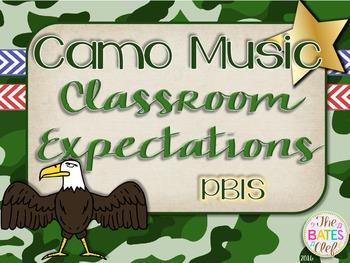 Camo Music Decor - Classroom Expectations (PBIS)