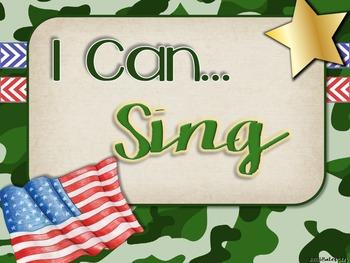 "Camo Music Decor - ""I Can"" Statements"