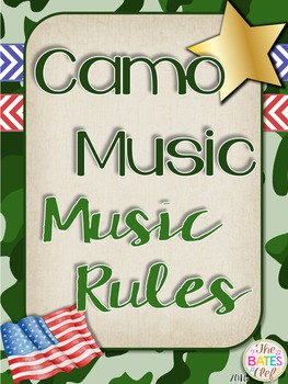 Camo Music Decor - Music Rules