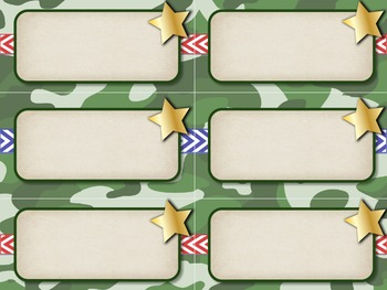 Camo Music Decor - Orff Instrument Labels