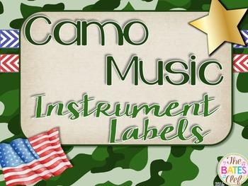 Camo Music Decor - Orff Instrument Labels
