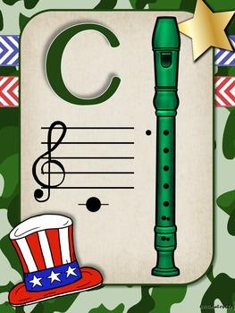 Camo Music Decor - Recorder Charts