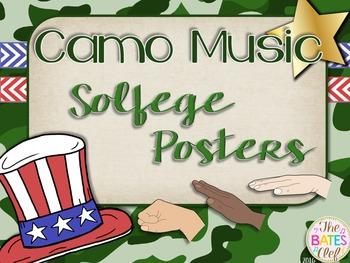 Camo Music Decor - Solfege Posters