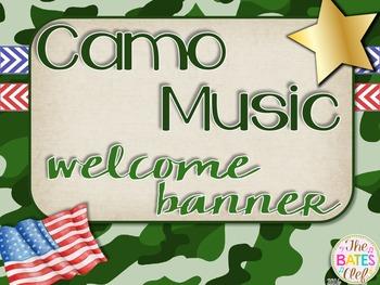 Camo Music Decor - Welcome Banner