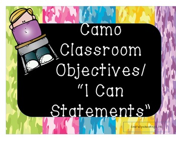 Camo Objectives/I Can Statements Design