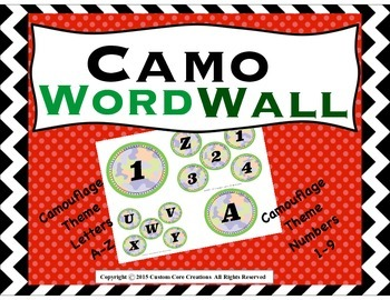 Camo Word Wall Set