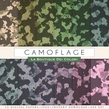 Camoflage Digital Paper, scrapbook backgrounds.