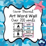 Art Word Wall (Camo Theme) - Editable!