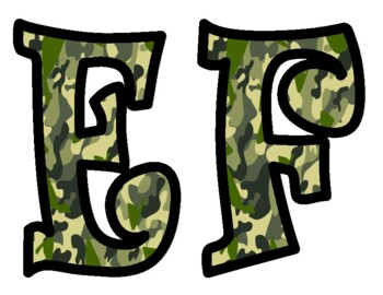 Camouflage Bulletin Board Letters