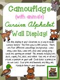 Camouflage Cursive Alphabet Wall Display