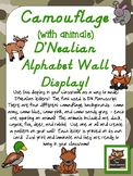 Camouflage D'Nealian Alphabet Wall Display