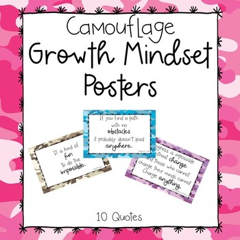 Camo Growth Mindset Posters