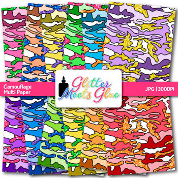 Camouflage Paper {Military Scrapbook Backgrounds for Classroom Resources} 2
