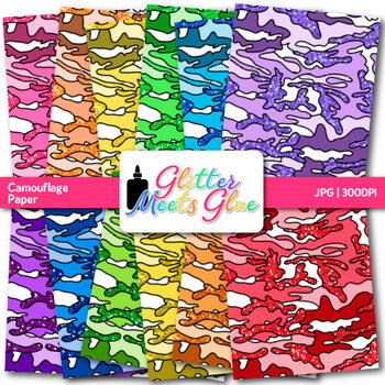 Camouflage Paper {Military Scrapbook Backgrounds for Classroom Resources} 1