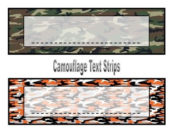 Camouflage Text Strips