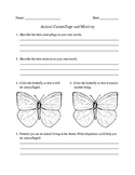 Camouflage and Mimicry Worksheet