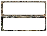Camouflage bordered name tags