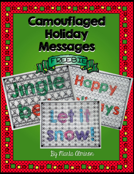 Camouflaged Holiday Messages {My Monthly FREEBIE}