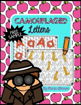 Camouflaged Letters {FREEBIE}
