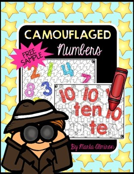 Camouflaged Numbers {FREEBIE}