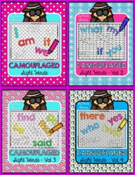 Camouflaged Sight Words! BUNDLE