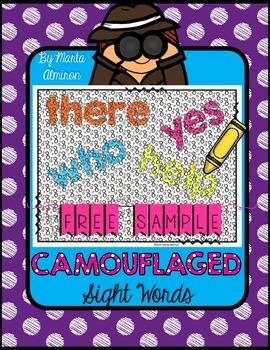 Camouflaged Sight Words! FREEBIE
