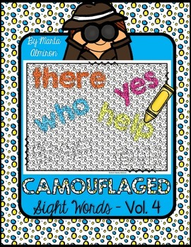Camouflaged Sight Words Vol. 4