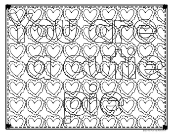 Camouflaged Valentine Messages {My Monthly FREEBIE}