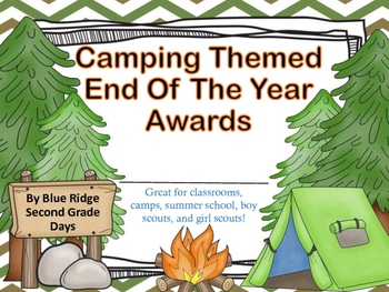 Camp Awards: Camping Event, End Of The Year, or Summer Cam