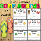 Camp Awards Certificates Beach Summer Tropical Editable