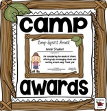 Awards Camp Awards Editable Awards